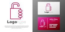 Logotype Line Safe Combination...
