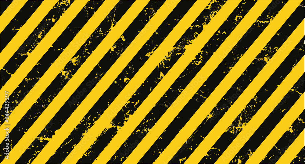 Fototapeta yellow hazard stripes