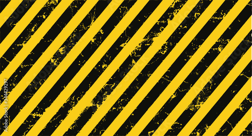 Canvastavla yellow hazard stripes