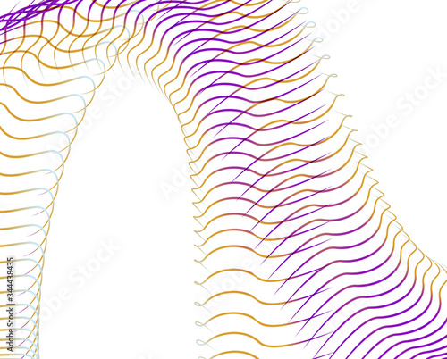 Photo Abstract background blend wave line design for Wallpaper, Banner, Background, Ca