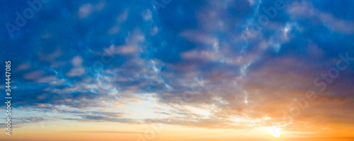 Natural background of the colorful panorama sky Fototapet