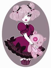 Beautiful Girl Dressed In Lolita Style