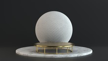 Product Stand, Marble And Gold...