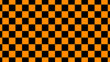 Orange & Black Checker Board,N...