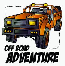 Off Road Vehicle Color Illustration