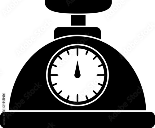 Photo Kitchen weighing scale vector icon, kitchen appliance icon
