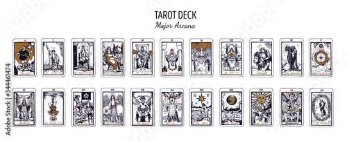 Fototapeta Big Tarot card deck