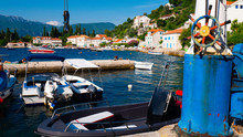 Boats In The Small Marina Of T...