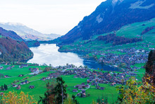 Valley Of Lake Lungern Or Lung...