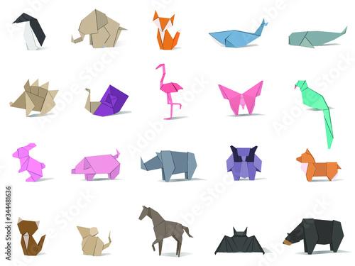 Fotografie, Obraz Animal origami vector