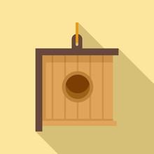 Modern Bird House Icon. Flat Illustration Of Modern Bird House Vector Icon For Web Design