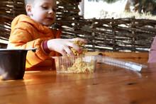 Child Eating Chak-chak Sweet