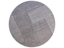 Modern Gray Round Rug With A L...