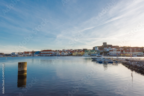 Photo Overview of Marstrand and the fortress Carlstens fortress in the background, 300