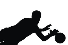Vector Silhouette Of Football ...