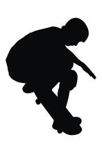Vector Illustration Of Skater ...