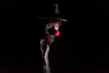 Sad Clown. Studio Portrait In ...