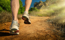 Running Outdoors In The Mounta...