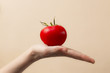 pomidor i ręka