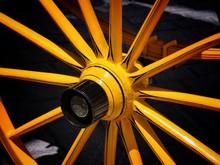 Full Frame Shot Of Wagon Wheel