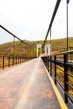 CHIANGMAI, THAILAND - April 26, 2020 : Suspension Bridge At Mae Kuang Udom Thara Dam, Thailand.