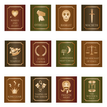 William Shakespeare Play Books - Icon Set