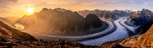 Panoramic View Of Mountains Ag...