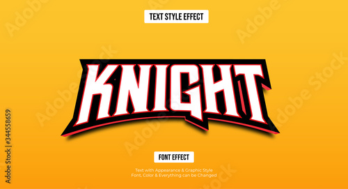 Fotomural Gaming esport style text effect, Editable text effect