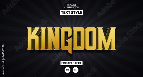 Kingdom royal text effect, Editable text effect Canvas Print