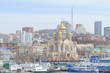 VLADIVOSTOK, Сonstruction of the Spaso-Preobrazhensky Cathedral near the Central square of the city