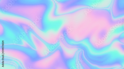 Photo Trendy texture with polarization effect and colorful neon holographic stains
