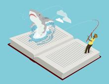 Man Fishing Great White Shark ...