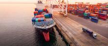 Crane Loanding Cargo Container...