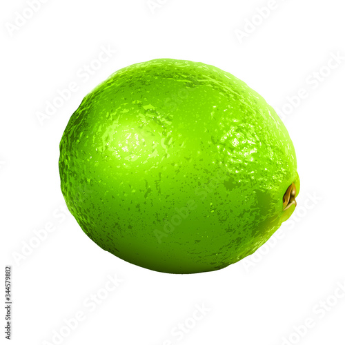 Photo Fresh green alluring summer cocktail lime