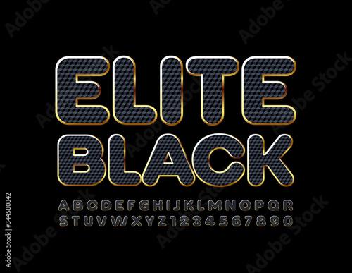 Fotografie, Obraz Vector Elite Black Font. Stylish Alphabet Letters and Numbers.