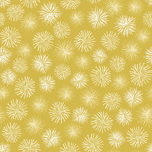 Vector Dandelion Seamless Floral Background. Abstract Mustard Yellow Pattern Great For Wallpaper, Fabric And Gift Wrap.