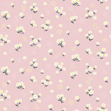Pink Daisy Seamless Pattern. F...