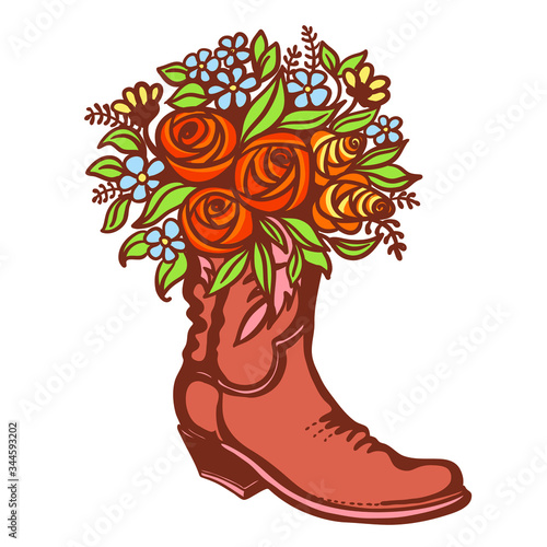 Valokuva Flowers in boot