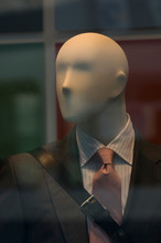 Close-up Of Male Mannequin Wearing Suit