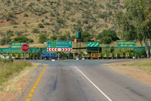 Magaliesburg And Broederstroom Road Junction In South Africa