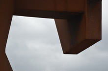 Cropped Image Of Rusty Metallic Sculpture Against Sky