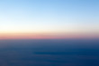 Sunset landscape view of the coast from the plane.