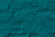 Green Plastered Brick Wall Tex...