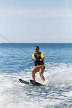 Female Water Skiing In Costa R...