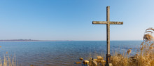 Wayside Cross At Lake Chiemsee...
