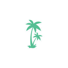 Tropical Beach And Palm Tree L...