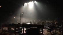 Illuminated Empty Concert Hall