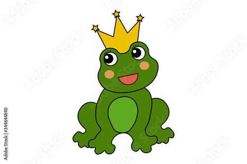 Dibujo animado de príncipe rana, es un vector. Canvas Print