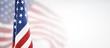 Leinwandbild Motiv American flag for Memorial Day, 4th of July, Labour Day