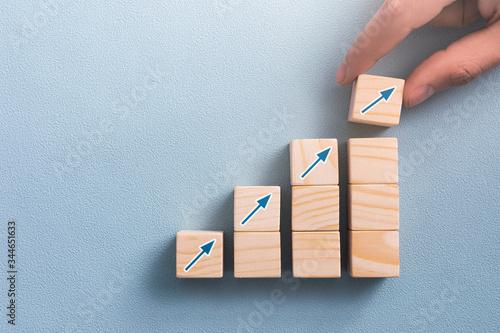 Tablou Canvas Business concept growth process.